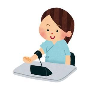 血圧測定のイラスト(健康診断)