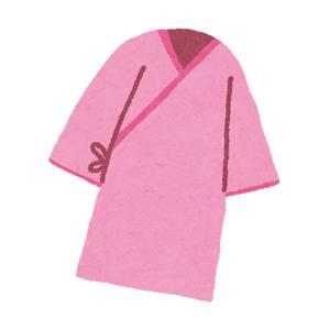 健康診断の検査着のイラスト(ピンク)