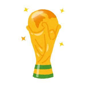 ワールドカップのトロフィーのイラスト