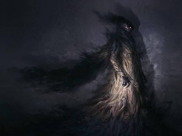 04.人間の屍で出来た死神のホラーでかっこいいイラスト壁紙画像