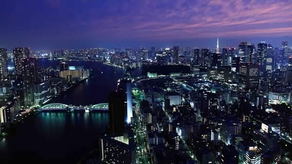 04.街の灯りが綺麗な東京の夜景を撮影した写真壁紙画像