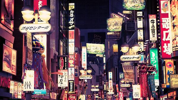 12.渋谷センター街の街並みを撮影した綺麗な写真壁紙画像
