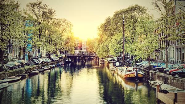07.アムステルダムの街並みをHDRで撮影した美しい写真壁紙画像