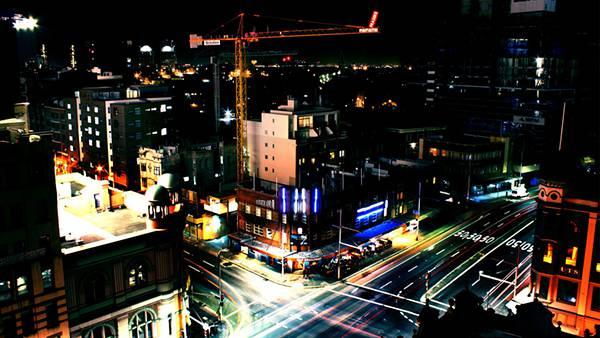 11.シドニーのビル街の交差点を撮影したカッコイイ写真壁紙画像