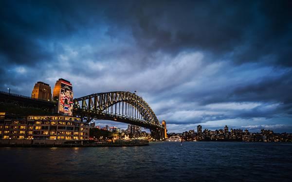 12.シドニー・ハーバーブリッジのある風景を撮影した迫力の写真壁紙画像