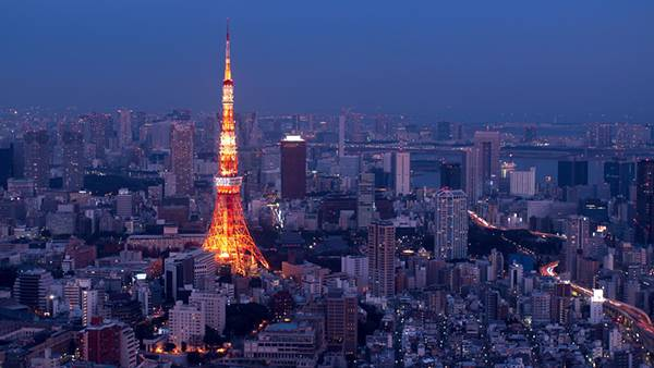 04.東京タワーを空撮した美しい写真壁紙画像