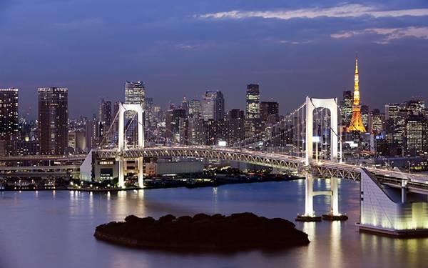 05.レインボーブリッジと東京タワーを撮影した美しい写真壁紙画像
