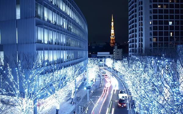08.綺麗なイルミネーションと東京タワーの美しい写真壁紙画像
