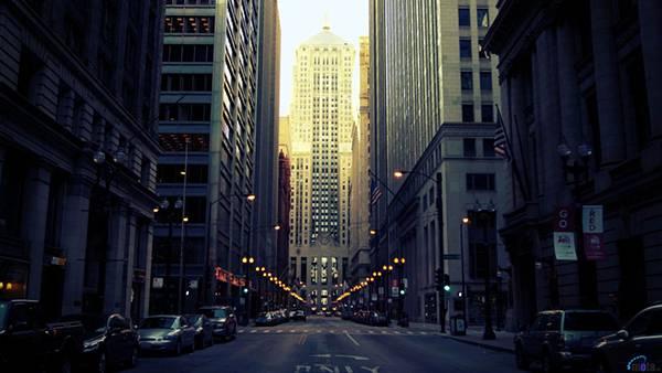 11.高層ビルの立ち並ぶ町並みを撮影したかっこいい写真壁紙画像