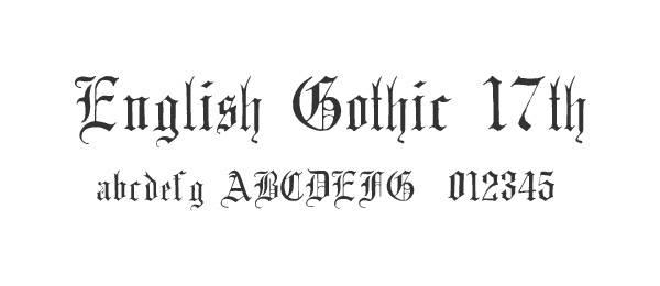 English Gothic, 17th c.