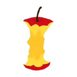 りんごの芯のイラスト