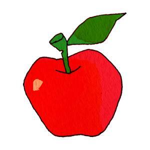 リンゴ の無料イラスト