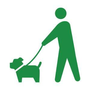 犬の散歩のピクトグラムその3