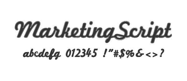 Marketing Script font