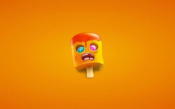 06.アイスキャンディーを擬人化したキャラクターのイラスト壁紙画像