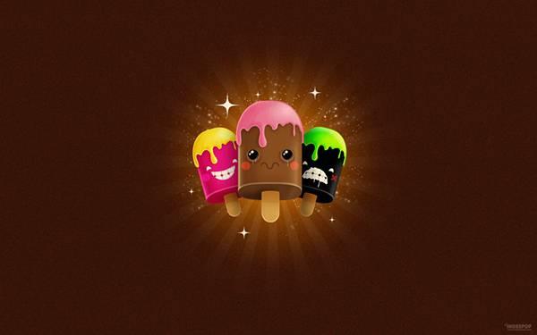 07.可愛いアイスキャンディーのポップなイラスト壁紙画像