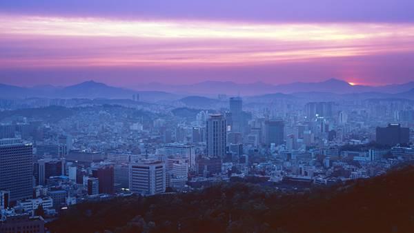 03.黄昏時の韓国の都市を撮影した美しい写真壁紙画像