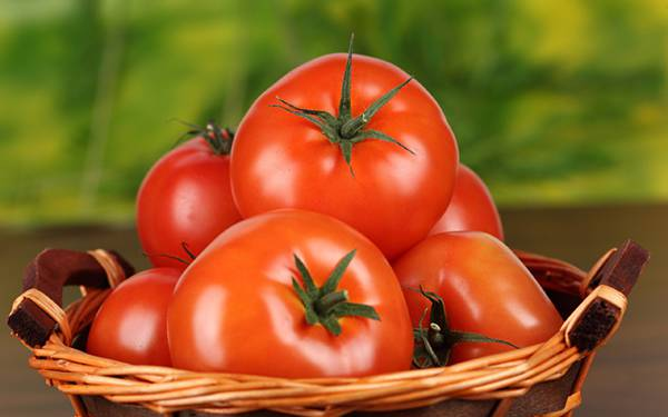 04.かごの中の立派なトマトの綺麗な写真壁紙画像