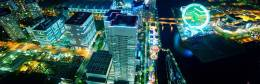 無料壁紙:横浜の夜景を撮影した綺麗な写真画像まとめ(大観覧車・ベイブリッジ)