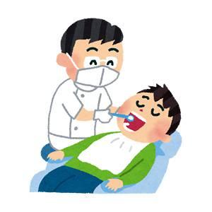 歯医者のイラスト「治療中」