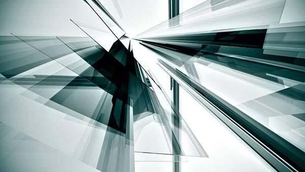 01.ガラスのような透明感のあるデザインの3DCG画像壁紙