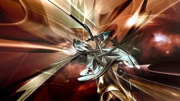 07.3DCGでレンダリングされた抽象的なアート壁紙画像