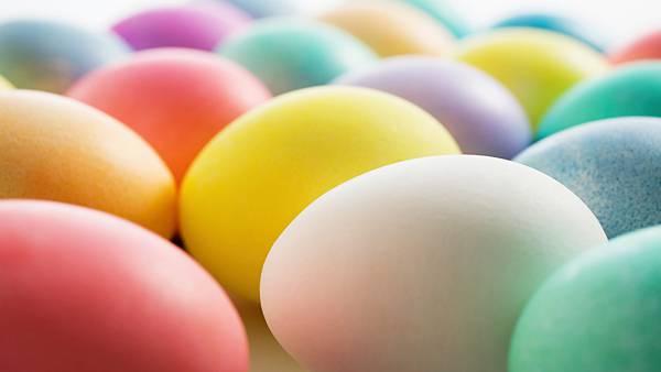 08.カラフルな可愛い卵をアップで撮影した写真壁紙画像