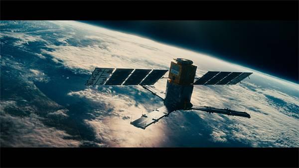 03.地球の軌道を周回する人工衛星のかっこいい壁紙画像