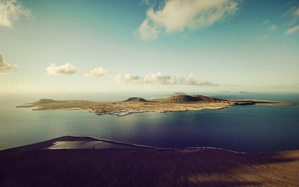 04.カナリア諸島の海岸を空撮したハイクオリティな写真壁紙画像