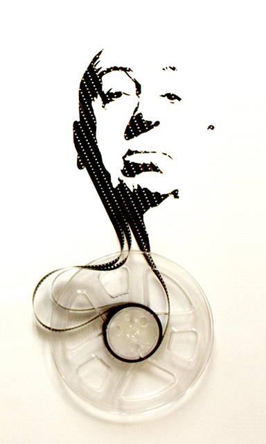著名人の似顔をテープで作ってしまったアート作品