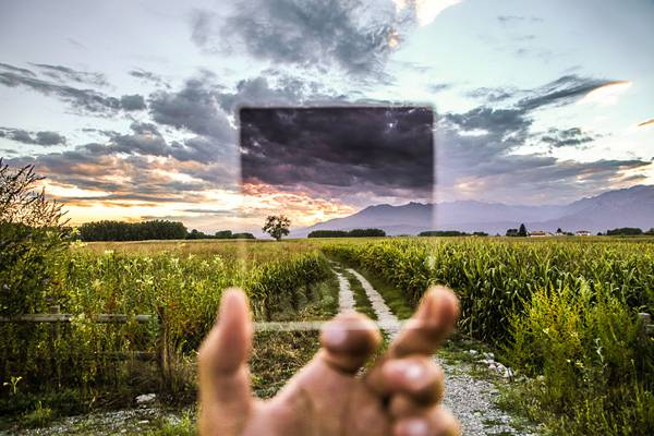 Cokin Filter Field Glass Hand Holding