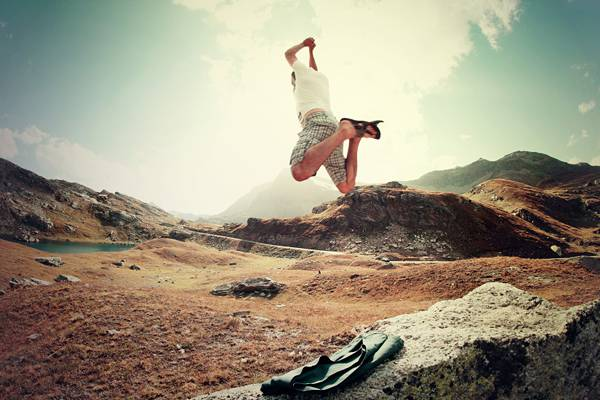 Boy Flying Happiness Joy Jumping