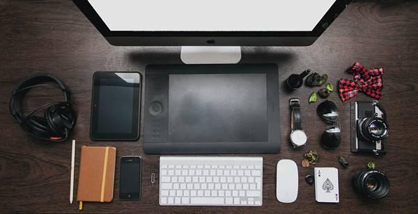 Apple Computer Designer Desk Devices
