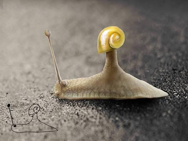 子供の落書きを本物の質感で再現したデジタルアート作品 - 03