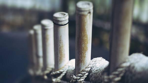 11.ロープで組まれた竹を浅い被写界深度で撮影した綺麗な写真壁紙画像