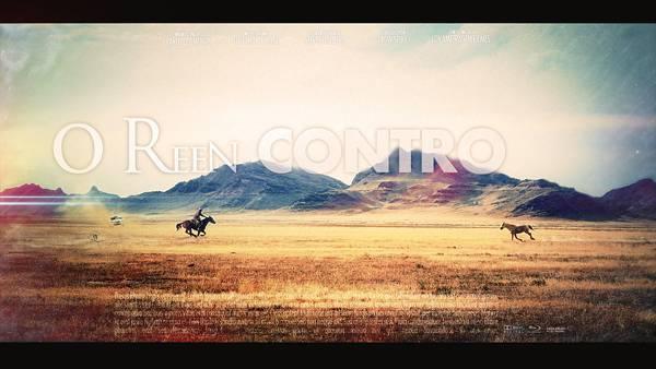 03.馬に乗って走るカウボーイとタイポグラフィの綺麗な写真壁紙画像