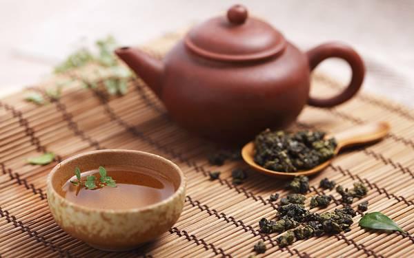 02.中国茶の葉や茶器を撮影した綺麗な写真壁紙画像