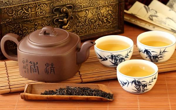08.中国茶の茶器のセットを撮影した美しい写真壁紙画像