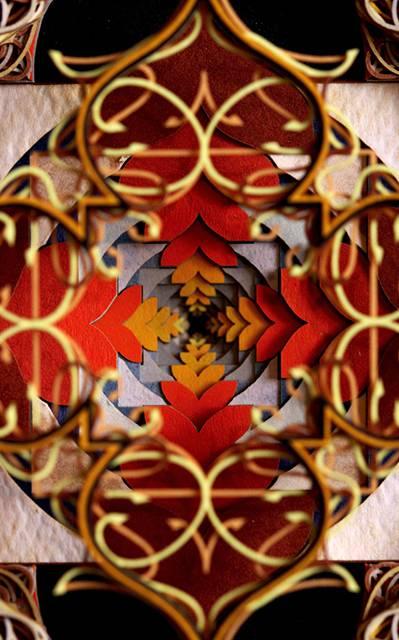 レーザーカットした紙を織り重ねた曼荼羅のようなアート作品 - 03