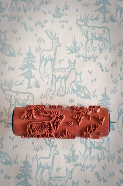 壁紙風に動物や植物のパターン柄を壁に描けるペイントローラー - 04