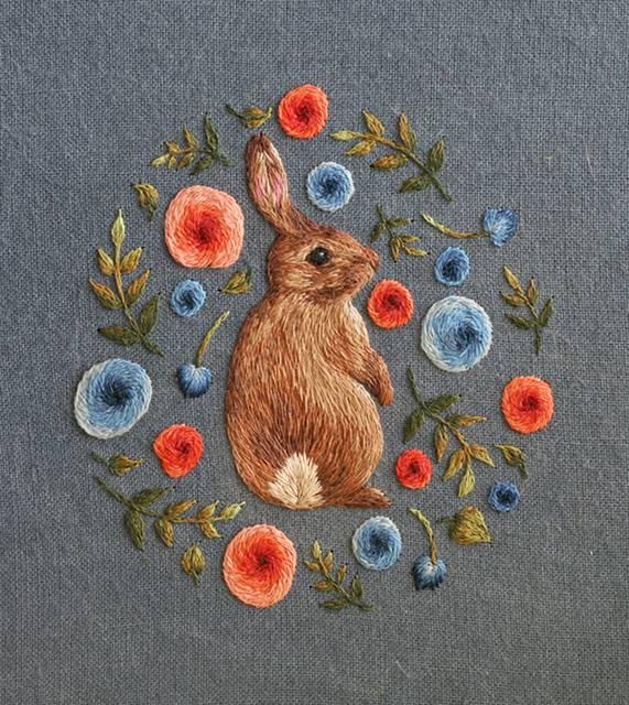 動物たちを毛並みまで丁寧に再現した刺繍イラスト作品 - 02