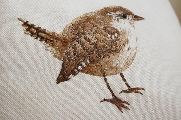 動物たちを毛並みまで丁寧に再現した刺繍イラスト作品 - 05