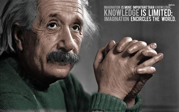 01.手を組んだアインシュタインとタイポグラフィーのクールな写真壁紙画像