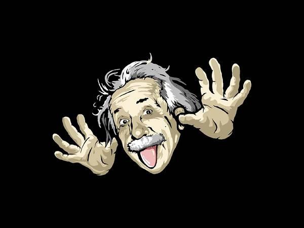 10.おどけた表情のアインシュタインのイラスト壁紙画像