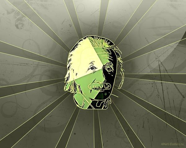 12.アインシュタインの顔と集中線でデザインしたイラスト壁紙画像