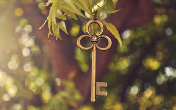 01.木に吊るされた鍵を撮影した綺麗なボケの写真壁紙画像