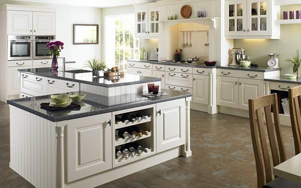 11.白に統一された可愛いキッチンを撮影した写真壁紙画像