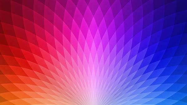 06.波紋のように広がるレインボーカラーの模様のイラスト壁紙画像