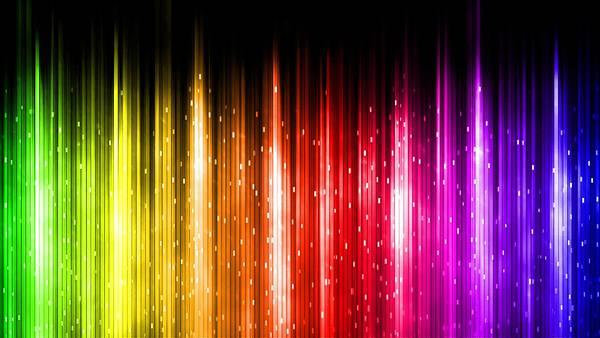 11.虹色のラインをデザインした鮮やかなイラスト壁紙画像
