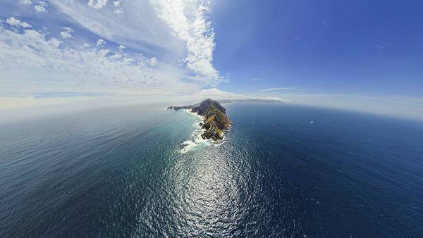 04.広大な海に浮かぶ孤島を上空から撮影した高解像度な写真壁紙画像